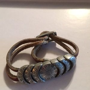 Jewelry - Brown Leather Adjustable Bracelet
